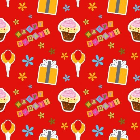 happy birthday background , seamless pattern Vector