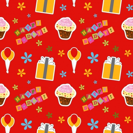 happy birthday background , seamless pattern Illustration