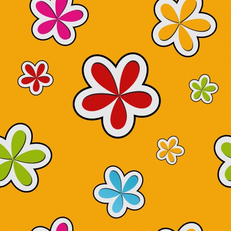 floral background , seamless pattern Stock Vector - 13773562