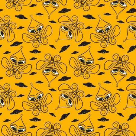 background with cartoon  character, seamless pattern Stock Vector - 13773934