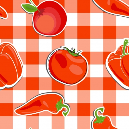 summer background with  vegetables, seamless pattern