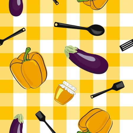 summer background with  vegetables, seamless pattern Stock Vector - 13773603