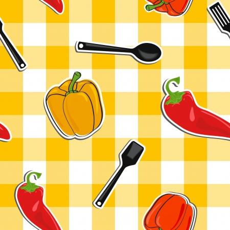 야채, 원활한 패턴 여름 배경 스톡 콘텐츠 - 13773601