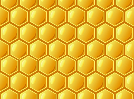Bee's honeycomb, seamless pattern ,