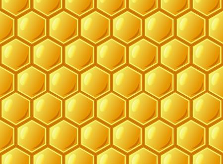 abeilles: Abeille nid d'abeille, seamless pattern, Illustration