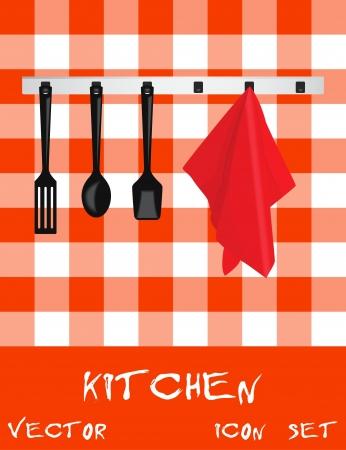 Icon set d'appareils de cuisine,