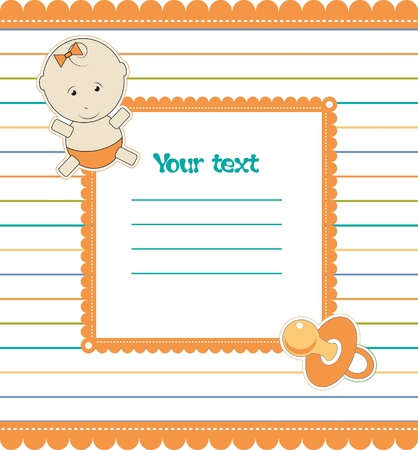 babygirl: Colorful background with baby-girl and pacifier,