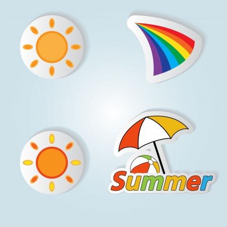 Pretty summer background, vector Vector