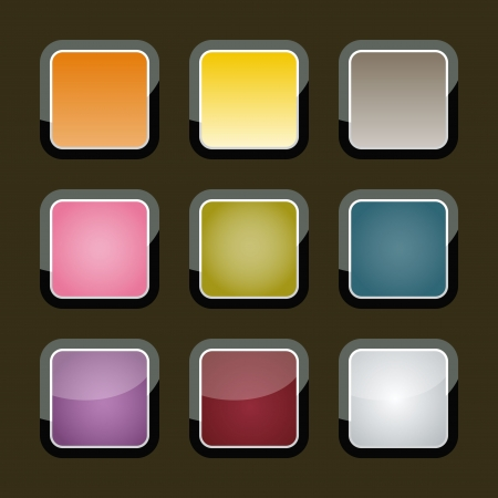 Colorful backgrounds for app icons  Vector