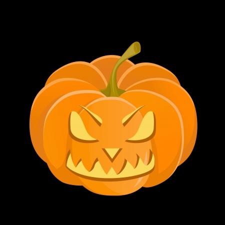 Halloween evilHalloween evil smiling pumpkin, vector smiling pumpkin, vector Stock Vector - 16586460