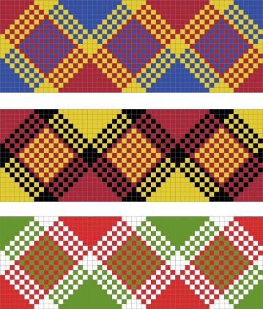 illustration of plaid (tartan) seamless pattern Illustration
