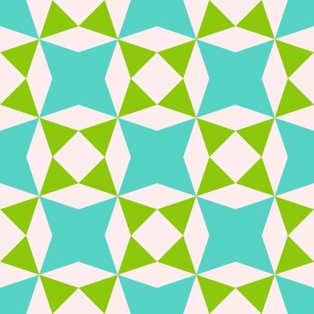 アクアマリン: 抽象的な幾何学的なシームレス パターン、ベクトル イラスト  イラスト・ベクター素材