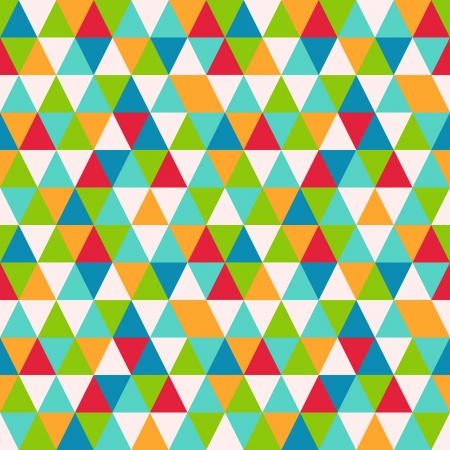 triangle pattern: Abstract geometric seamless pattern, vector illustration Illustration