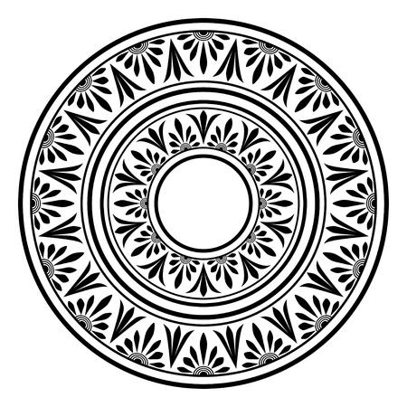 원형 장식. 라운드 프레임, 고대 요소의 장미. 스톡 콘텐츠 - 21989883