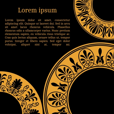 Frame template for cards, invitations, banners. You can place any text here. Invitation card with greek national pattern, vector photo