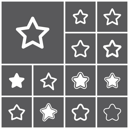 favourite: Set of flat simple web icons (favorite, favourite, bookmark, rank), vector illustration Illustration