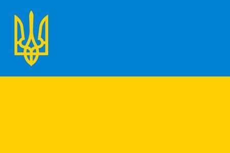 slavonic: National flag and state ensign of Ukraine, vector Illustration