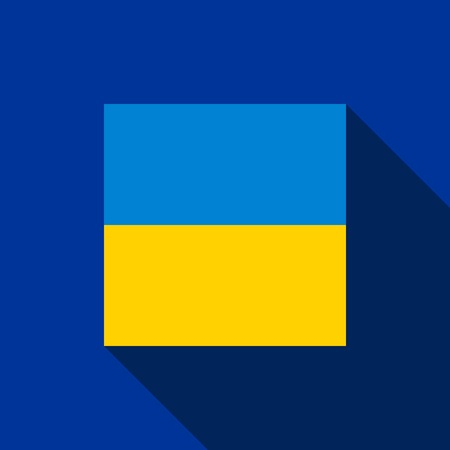 blazonry: National flag and state ensign (state flag) of Ukraine, vector icon Illustration