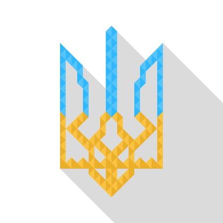 Coat of arms of Ukraine (state emblem, national ukrainian emblem), vector