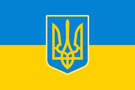 ukraine: National flag and state ensign (state flag) of Ukraine, vector
