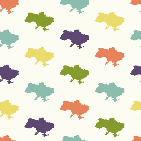 slavonic: Seamless pattern, territory of Ukraine, vector illustration