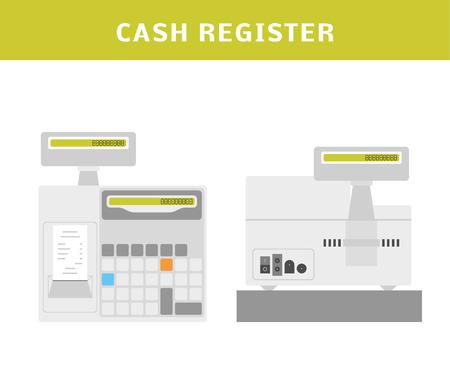 maquina registradora: Ilustraci�n vectorial de dibujos animados de una caja registradora.