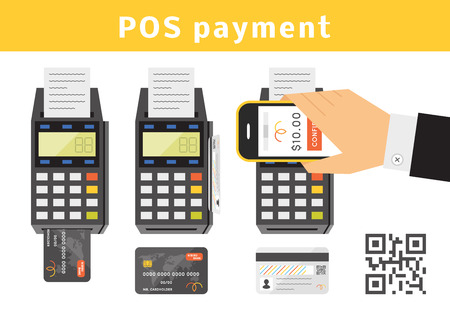 hand card: POS payment concept.