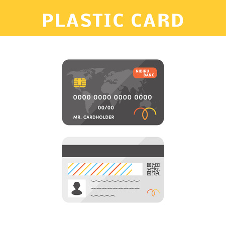 qrcode: Vector credit cards.