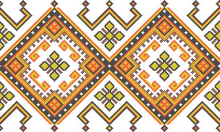 Ukrainian ethnic background. Caucasian seamless vector pattern. Illustration