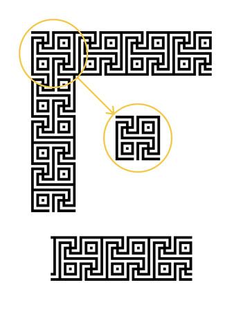 meander: Meander border. Ancient seamless Greek key frame. Greek national antique meandros line. Swasika pattern Illustration