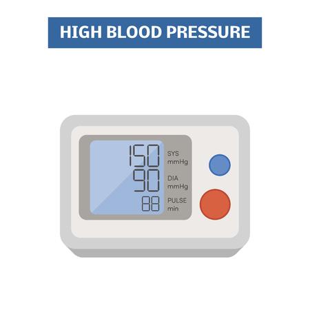 blood pressure monitor: Blood pressure meter. Vector image of an electronic blood pressure gauge Illustration