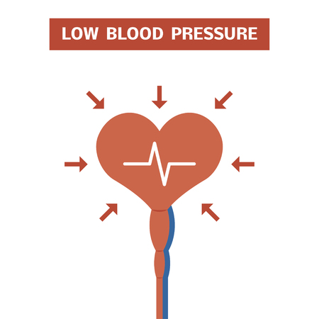 diastolic: High blood pressure concept. Illustration