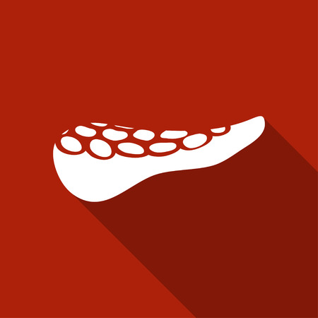 enzymes: Pancreas icon. Simple vector illustration of a human pancreas in flat style Illustration