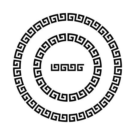 antiquities: Circle ornament meander.