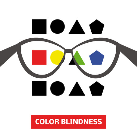 blindness: Concept of color blindness, vector Illustration