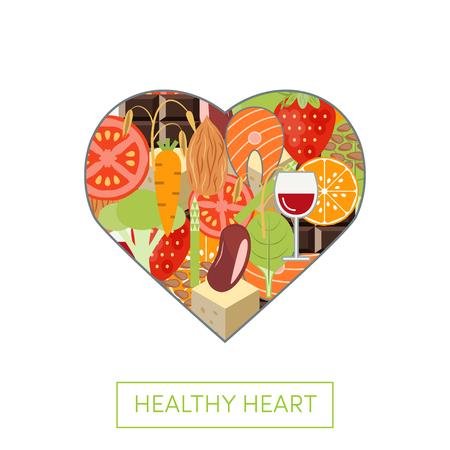Vector concept of healthy heart