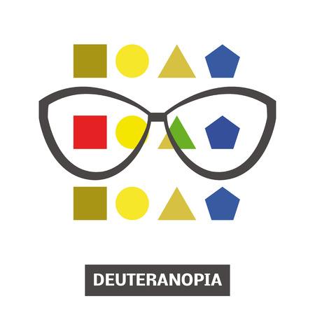 retina: Concept of color blindness, vector Illustration