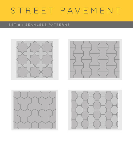 Set of vector street pavements: seamless patterns