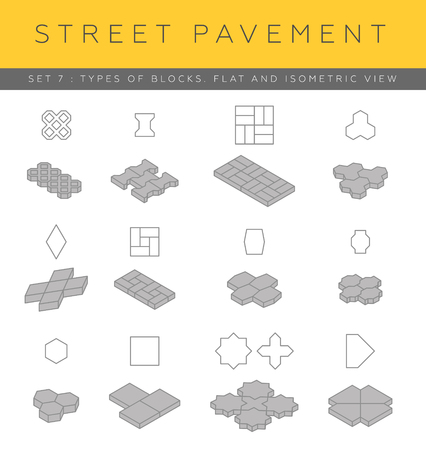 paver: Set of concrete paver blocks