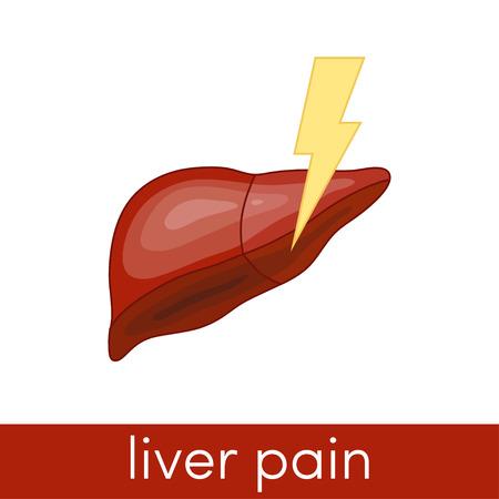 hepatitis: Liver pain vector icon Illustration