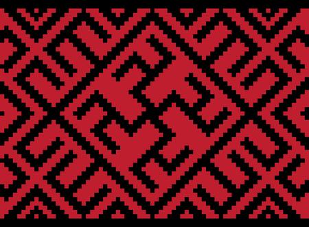 Vector illustration of Ukrainian seamless pattern