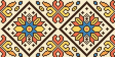 Nationaal Oekraïens naadloos patroon, vector