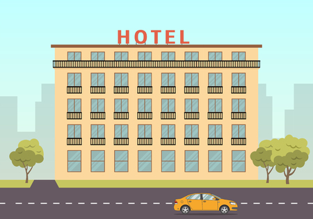 Building vector illustration in flat style.