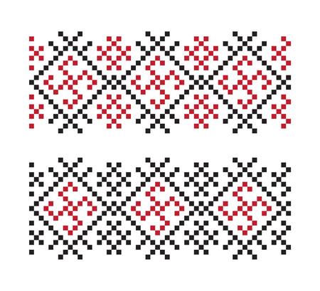 Ukrainian vector seamless pattern.