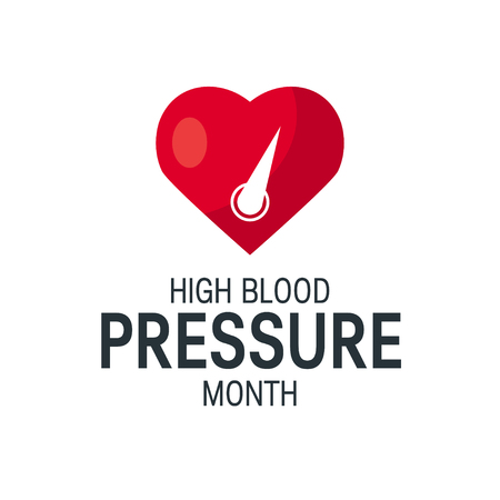 High blood pressure month concept. Simple design in flat style, vector Banque d'images - 121404930