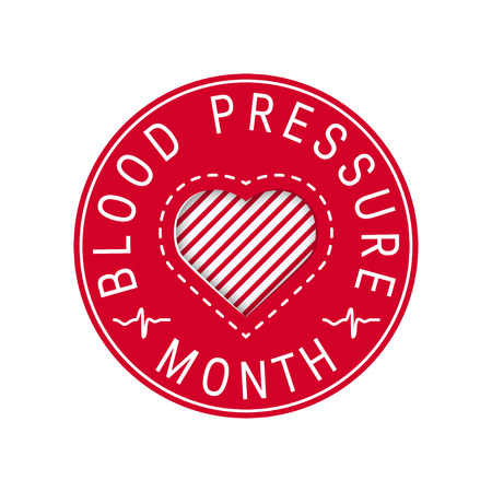 Blood pressure month concept. Circular design in flat style, vector Banque d'images - 121404929