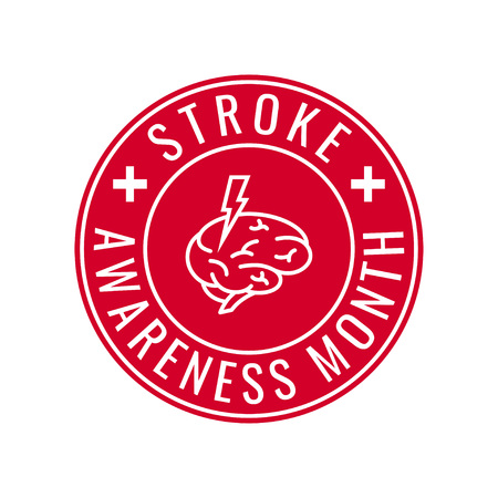 American stroke awareness month concept. Simple typography design in flat style, vector