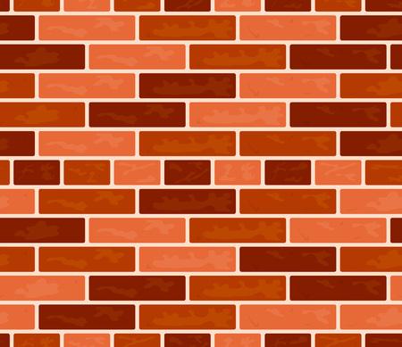 Vector brick wall seamless pattern. Rectangular illustration in flat style Illustration