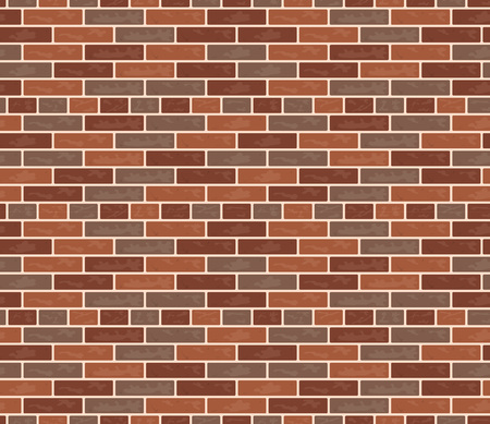 Seamless pattern of a vector brick wall. Rectangular illustration in flat style