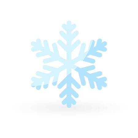 Simple snowflake icon in flat style. Vector illustration on white background